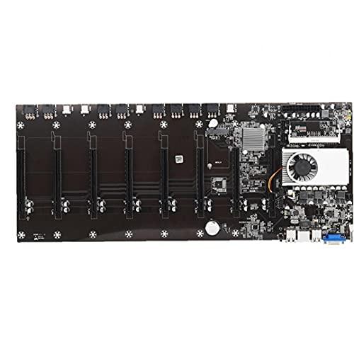 YepYes Miner Placa Base BTC-T37 Minería Grupo CPU de la máquina 8 Tarjeta de Memoria de vídeo Ranuras de Interfaz VGA con Baja energía Consume Negro