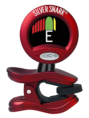 Snark Red Silver Guitar Clip On All Instrument Tuner (SIL-RED)