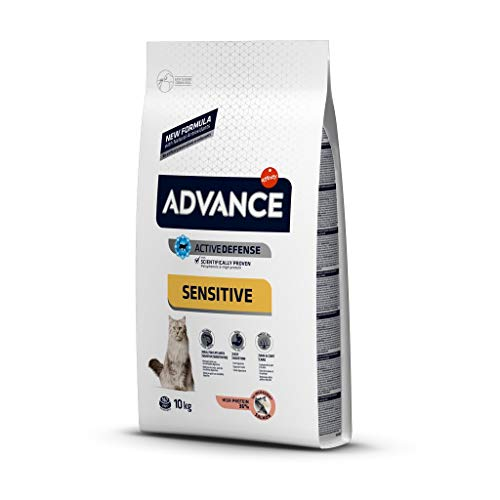 ADVANCE Sensitive Sterilized - Pienso para Gatos Esterilizados con Salmón - 10Kg
