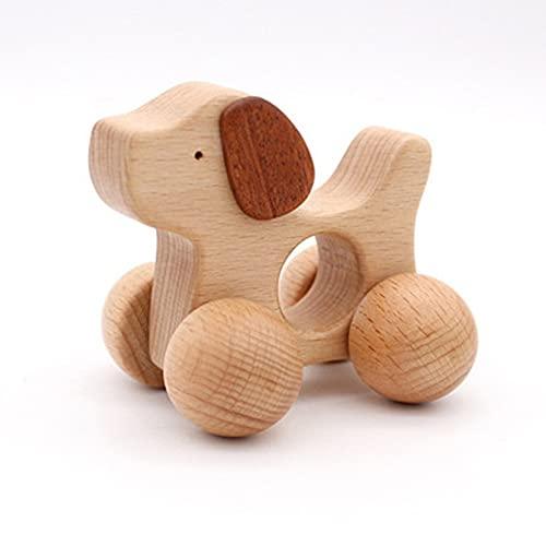 Smile Diary Juguete de madera educativo 3D Puzzle Animal de madera Sensorial Spinning Top Entrenamiento Temprano Intelectual Aprendizaje Juguete (C)