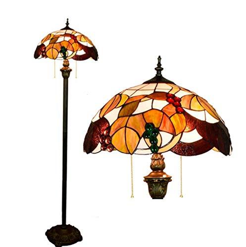 Yjmgrowing Tiffany Stil Glasmalerei Schlafzimmer Nachttischlampe Stühle Pastorale Dekoration stehendes Licht für Wohnzimmer, 110V-240V (Glühbirnen Nicht inbegriffen) Tochange