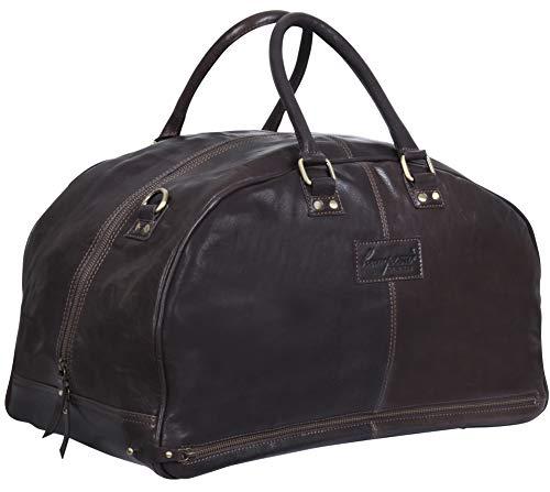 Hampton Braun Leder Reise Weiterführen Duffle Tasche Gepäck Für Männer und Frauen