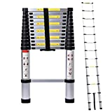5M/16.4ft Aluminum Extension Folding Telescopic Ladder Straight Telescoping Ladders Capacity 150kg/330lb with Certificate