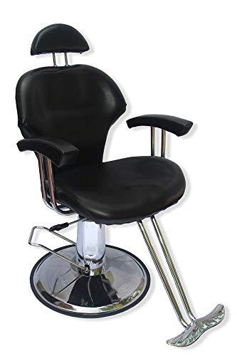 Sillon Silla Barbero Estetica Hidraulica Reclinable Salon E – Negro