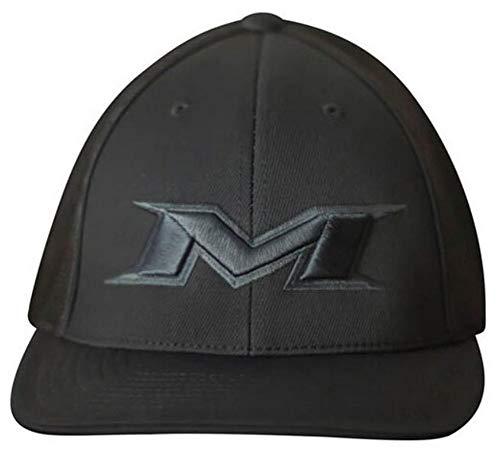 Miken 404M Softball Trucker Flex Fit Hat Cap Baseball Mesh Back Black (S/M)