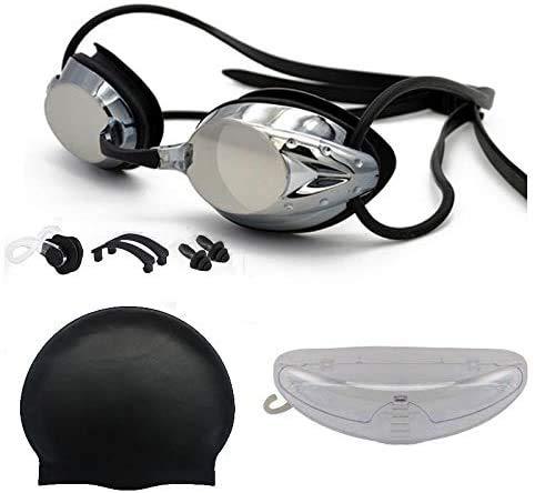 Gafas Natación Negra. Antivaho. Resistentes Gafas