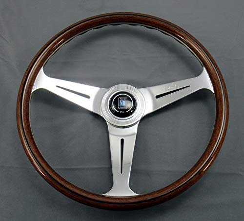 Nardi Steering Wheel - Classic - 390 mm (15.35 inches) - Wood with Polished...