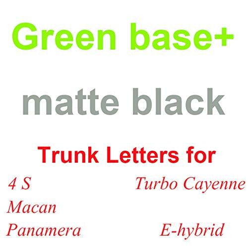 Yoin Buchstaben Emblem für 986 718 Cayman Boxster 911 Carrera GTS Turbo 4S Panamer Macan Cayenne Executive E-Hybrid Kofferraumaufkleber, Grün x matt Brief, Panamer 4S Executiv