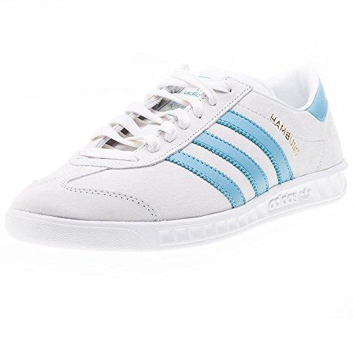 Adidas Hamburg, crystal white/blanch sky/ftwr white, 6,5