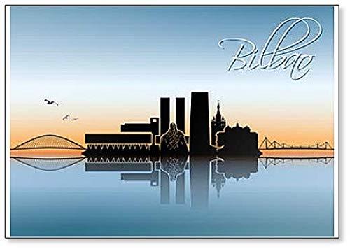 Bilbao Skyline - Imán para nevera