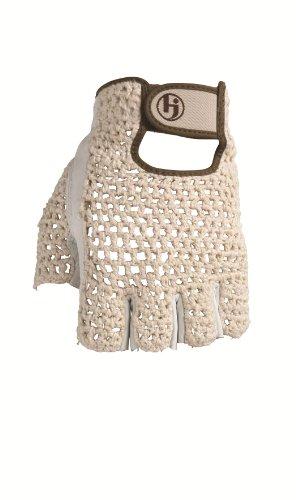 HJ Glove Mens Snow White Original Half Finger Golf Glove, Medium, Right Hand