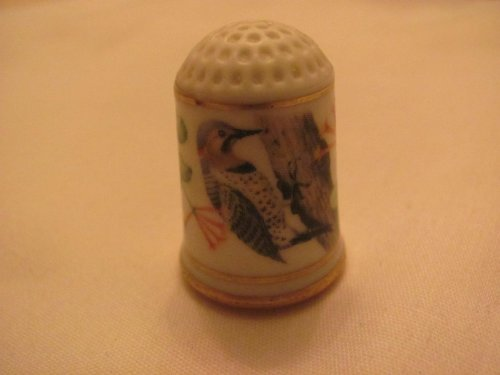 Why Choose Franklin Mint Garden Birds THIMBLE - YELLOW SHAFTED FLICKER Bird - (Limited Edition / 1...