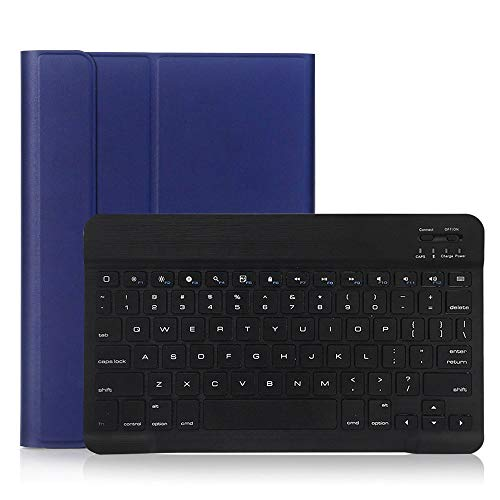 RZL PAD & TAB cases For iPad Pro 10.5 2017, Wireless Bluetooth Keyboard PU Leather Keyboard Case Flip Stand Cover For iPad Pro 10.5 A1701 A1709 A1852 (Color : Deep Blue)
