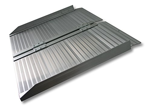 WilTec Rampa Silla Ruedas Plegable 150cm 270kg Aluminio Portátil Plana Minusválidos Acceso Sin barreras