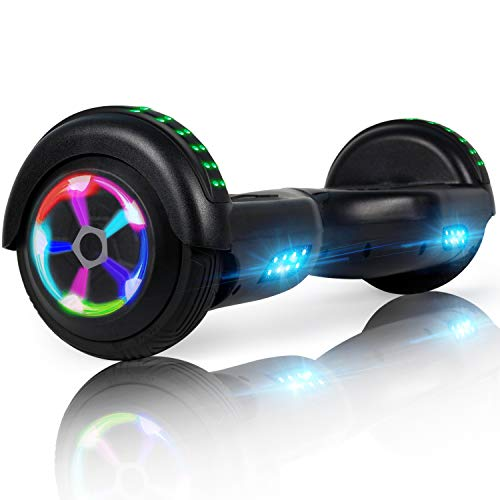 LIEAGLE Hoverboard, 6.5  Self Balancing Scooter Hover Board with UL2272 Certified Wheels LED Lights for Kids Adults Black