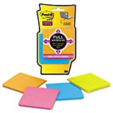 Post-it Notes Super Sticky - Full Adhesive Notes, 3 x 3, Assorted Bright Colors, 4/Pack - Sold As 1 Pack - Holds longer and stronger, yet removes cleanly.