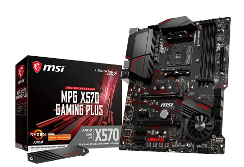 Oferta de MSI MPG X570 Gaming Plus - Placa Base Performance Gaming (Chipset AMD X570, DDR4, Audio Boost, Intel Lan, Socket AM4, HDMI, Soporta AMD Pocesadores) Color Negro
