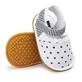 Morbido Infant Baby Girl Sandal Premium Soft Rubber Sole Anti-Slip Summer Bow Shoe Toddler Flats First Walkers Crib Shoe (b white 1, 6_months)