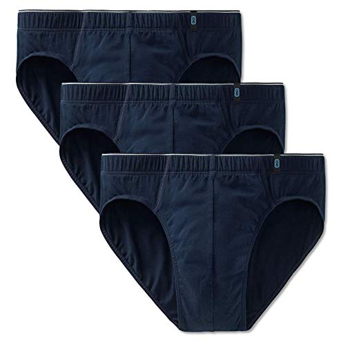 Schiesser Herren Slip 3er Pack - Supermini, Cotton Stretch, Uni, Serie 95/5 (dunkelblau (801 Admiral), XXL (XX-Large, 3-Pack))