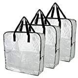 IKEA DIMPA 3 pcs Extra Large Storage Bag, Clear Heavy Duty Bags, Moth and Moisture Protection Storage Bags