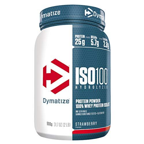 Dymatize ISO 100 Strawberry 900g - Whey Protein Hydrolysat + Isolat Powder