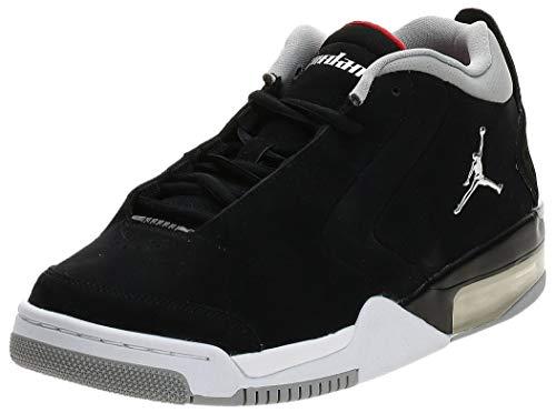 Jordan BV6273-001: Men's Black/Metallic Silver/White Big Fund Sneakers (10 D(M) US Men)