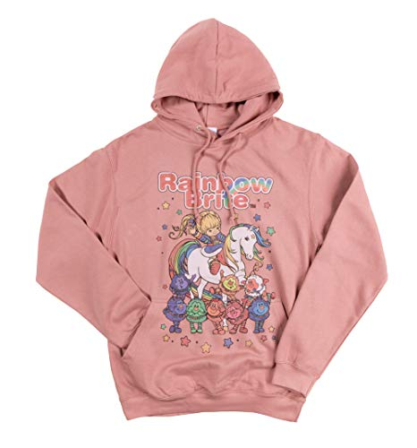 Pink Rainbow Brite Hoodie for Women by Truffleshuffle, M, L, XL