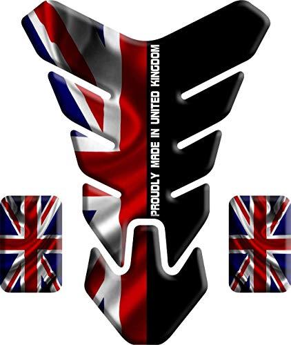 Tankpad Motorrad Draht Muster Tankschutz Polymer für Triumph GB Großbritannien