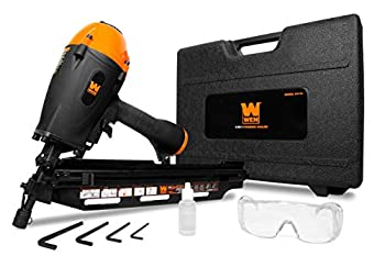 WEN 61731 3-in-1 Pneumatic 21-Degree 28-Degree and 34-Degree Framing Nailer with Carrying Case