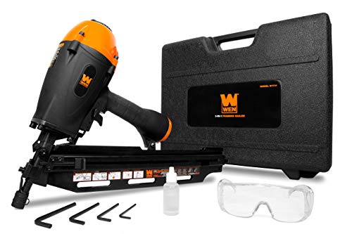 WEN 61731 3-in-1 Pneumatic 21-Degree, 28-Degree and 34-Degree Framing Nailer with Carrying Case
