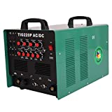 HST TIG WIG Schweißgerät AC DC MMA 220 Ampere Aluminium Pulse 2/4 Takt HF Zünd