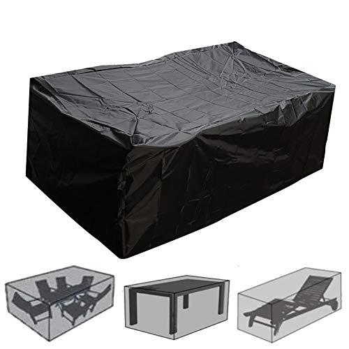 YNES Conjunto al Aire Libre Sofá Protección, Muebles de jardín Cubierta de la Lluvia, Durable y Conveniente, Impermeable a Prueba de Nieve Polvo del Viento, for Patio al Aire Libre Sofá Protección