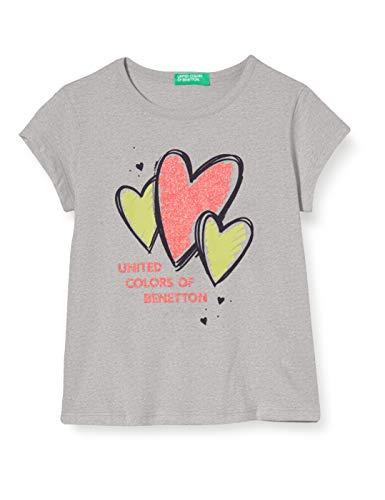 United Colors of Benetton Mädchen T-Shirt Pullunder, Grau (Grigio 501), 104 (Herstellergröße: XX)
