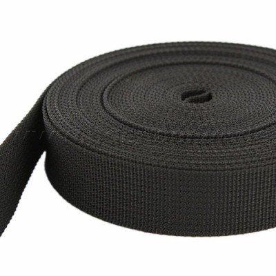 50m PP Gurtband - 30mm breit - 1,8mm stark - schwarz (UV)