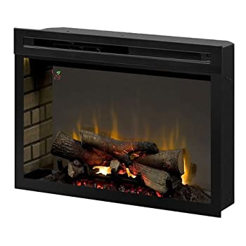 Dimplex PF3033HL Multi-Fire XD 33  Electric Firebox with Faux Logs Bed Black