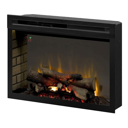 """Dimplex PF3033HL Multi-Fire XD 33"""" Electric Firebox with Faux Logs Bed, Black"""