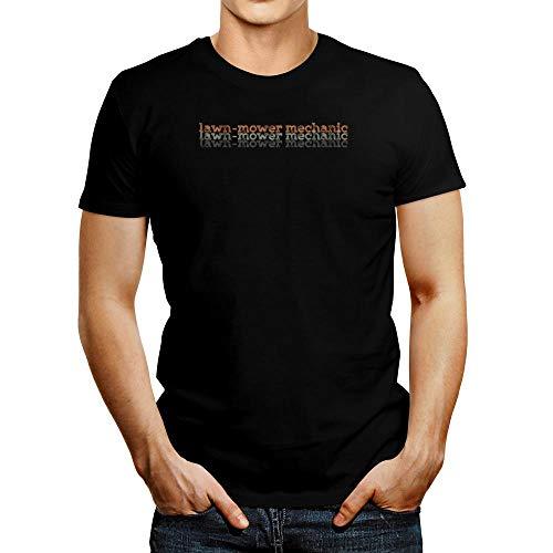 Idakoos Cortacésped mecánico repetir camiseta retro - Negro - Medium