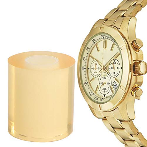 Anti-Static Transparent PVC Protective Film Tape, 8cm Clear Protective Film Watch Clock Jewelry Protector Tape
