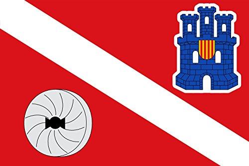 magFlags Bandiera Large Esplús | Paño Rojo cuyas proporciones Son 2/3, ancho por Largo | Bandiera Paesaggio | 1.35m² | 90x150cm