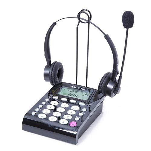 Nuevo teléfono / teléfono inalámbrico, teléfono de línea fija, auriculares, teléfono de escritorio con diadema, teléfono de centro de llamadas con auriculares manos libres, teclado de negocios, auricu