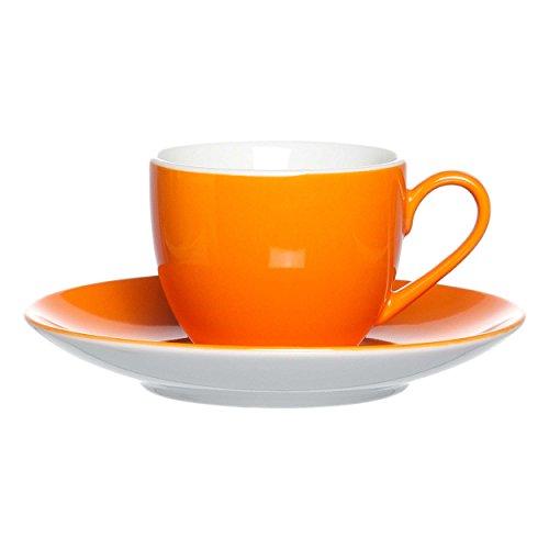 Ritzenhoff & Breker Doppio Espresso Obere, Obertasse, Ober Tasse, Geschirr, Porzellan, Orange, 80 ml, 516166