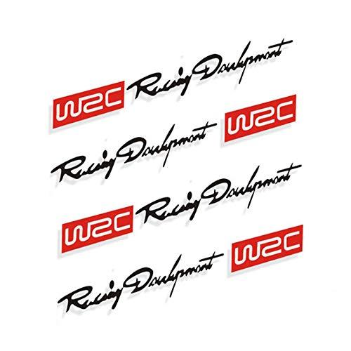 KKmoon Adesivo per Auto, 4 x Decalcomanie per Maniglia della Portiera Auto, Moda per Styling Auto Adesivo Creativo WRC World Racing Development, Vinili Adesivi con Design Bicolore