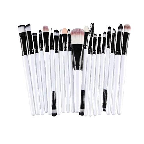 20pcs pinceaux de maquillage blanc noir poignée cosmétiques fard à paupières Eyeliner teint Poudre Correcteur fard à joues de Maquillage Brosses