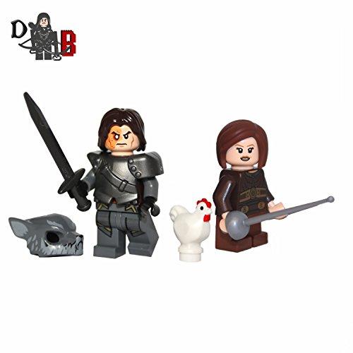 Traje Juego de Thrones Sandor Sandor The Hound & Arya Stark con armas