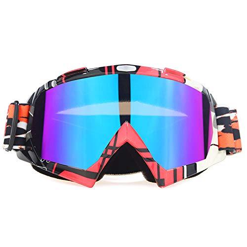 BAIAA Blendschutz-Skibrille, Schutz OTG Schneebrille mit Verriegelungsknopf für Männer Frauen Jugend, Helm Kompatibel, Antibeschlag, Schlagfest, Winddicht (C)