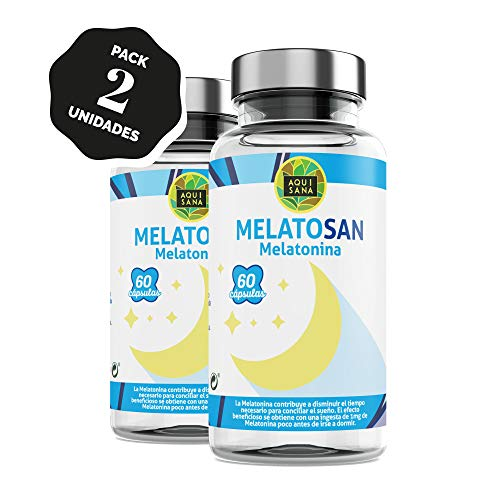 Melatosan-Aquisana   Melatonina + Valeriana + Pasiflora + Melisa - - Relajante natural - Extractos de plantas para descansar - Libre de Alérgenos-(120 CAP)