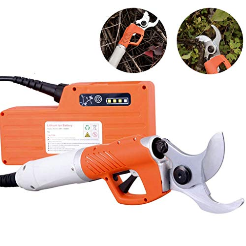 AMINSHAP Elektrische snoeimachine, oplaadbare schaar-fruitboomsnijder, huistuinsnijdgereedschap, tuinfruitbomen 30 mm (harde AST) ~ 45 mm (zachte AST) met 1 lithiumbatterij