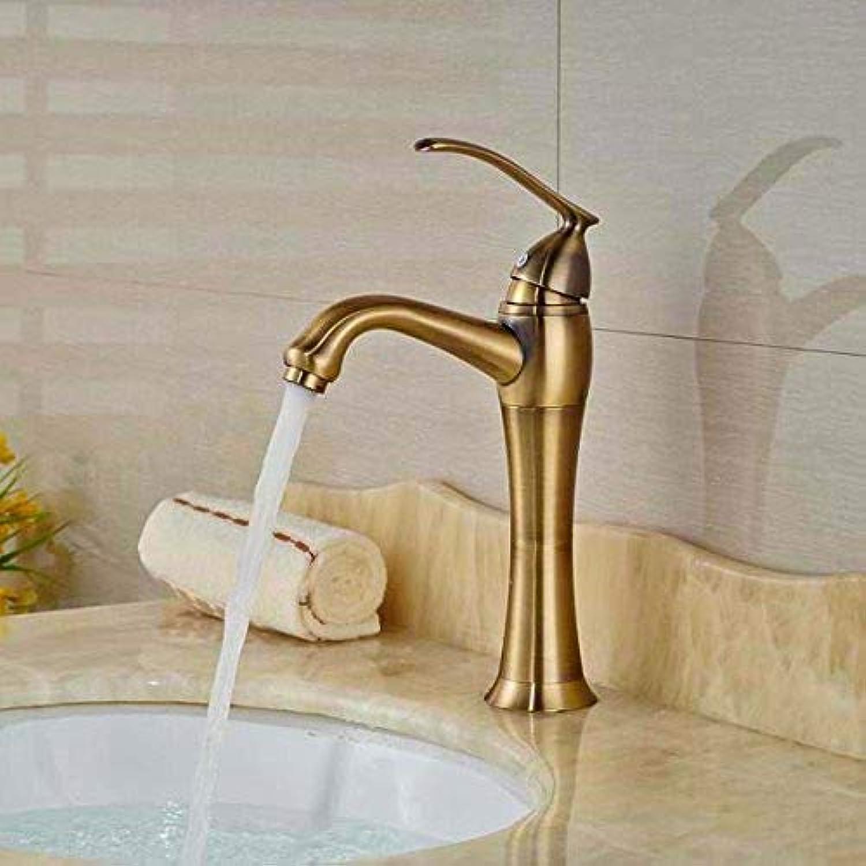 AOLI Wasserhahn Armaturen Bad Becken Wasserhahn Antike Bronze Waschbecken Mischbatterie Heies und kaltes Wasser Waschbecken