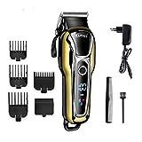 Cortadora de cabello recargable kemei 100-240V cortadora de cabello profesional máquina de afeitar del cabello barba de...