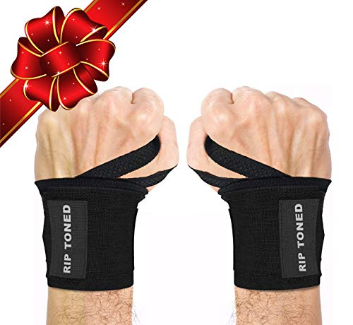 Rip Toned Wrist Wraps 18' Professional Grade with Thumb Loops - Wrist Support Braces for Men & Women...